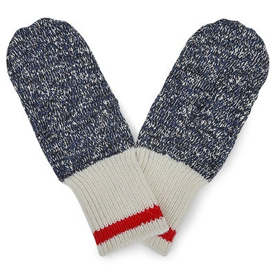 Mitaines Duray Marled, bleu/rouge, femme