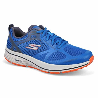 Mns GO Run Lace Up Runner-Blue/Orange