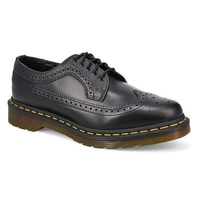 Mns 3989 Yellow Stitch blk casual oxford