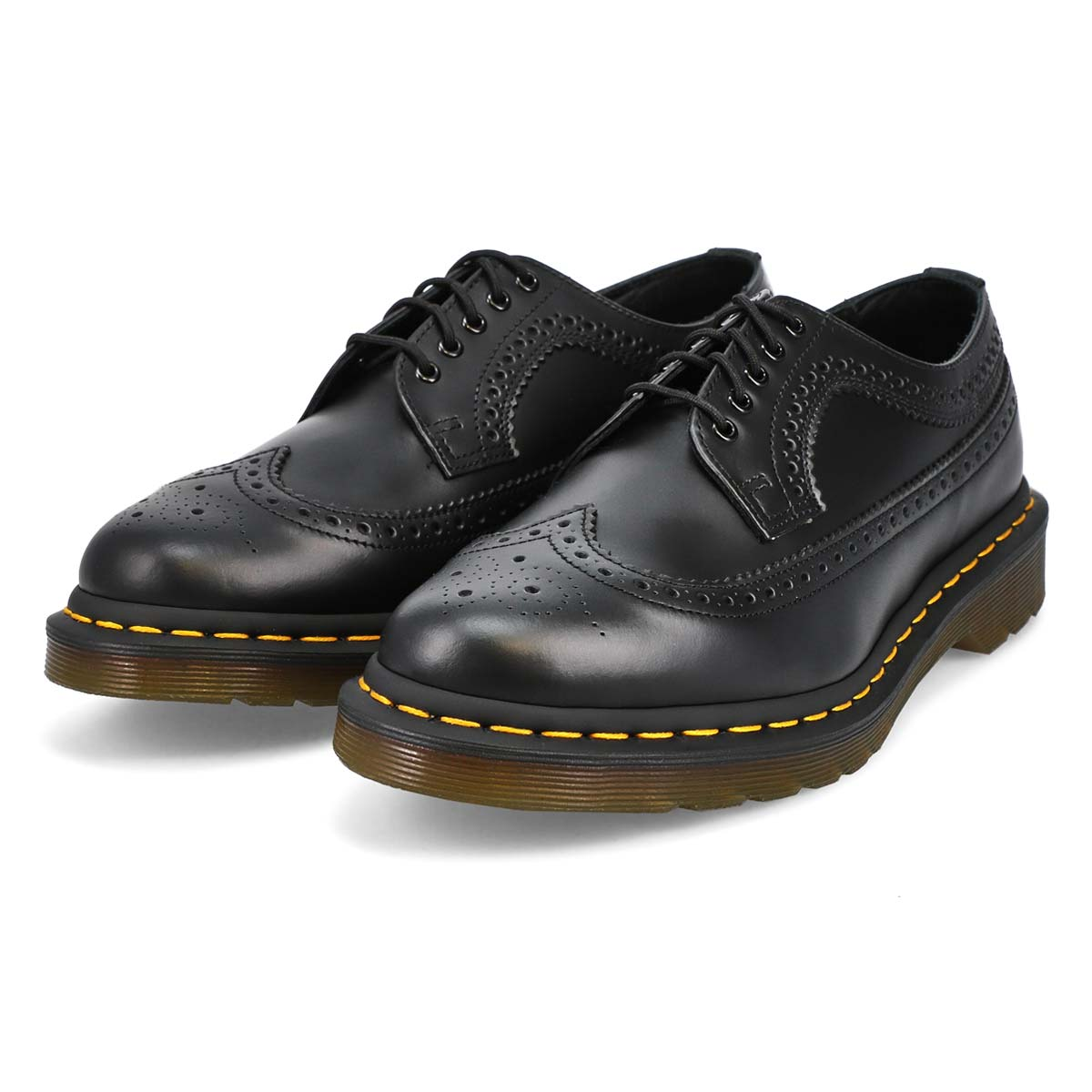 Men's 3989 Yellow Stitch Casual Oxford - Black