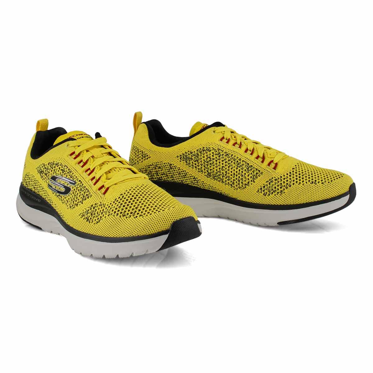 Chaussures de course ULTRAGROOVE jaune/noir, homme