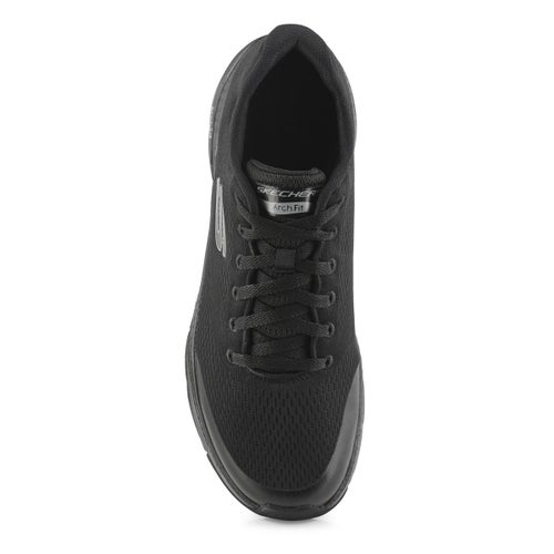 Mns Arch Fit black lace up sneaker