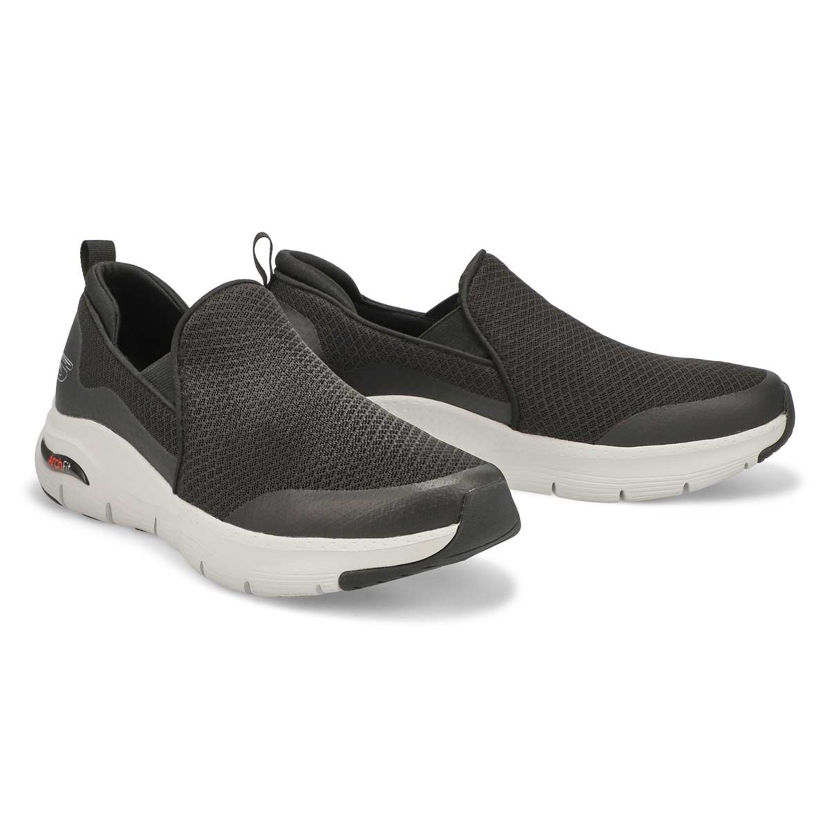 Men's Arch Fit Banlin Sneakers- Black/White