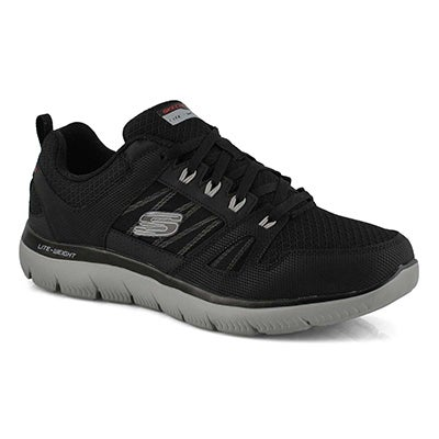 Mns Summits New World blk/gry snkr- WIDE