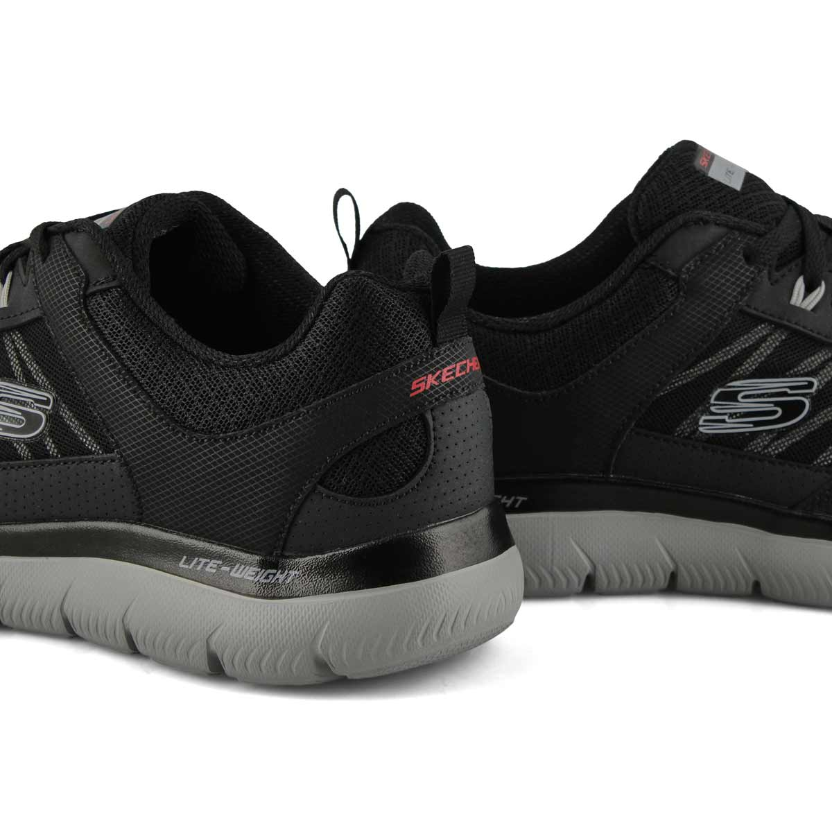 Men's Summits New World Sneakers Wide- Black/Grey