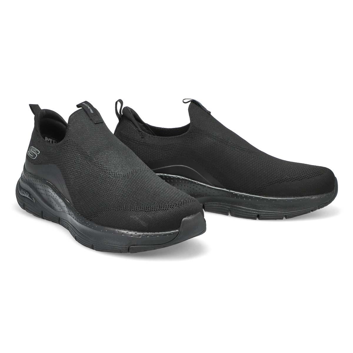 Men's Arch Fit Slip On Sneaker - Black/Black