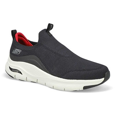 Mns Arch Fit Slip On Sneaker-Black/Wht