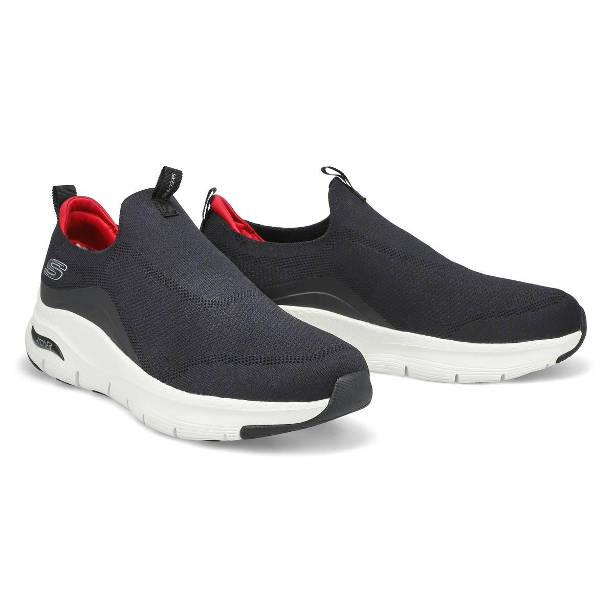 Men's Arch Fit Slip On Sneaker - Black/White