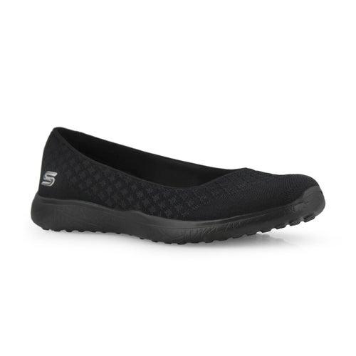Lds Microburst One-Up blk flat shoe