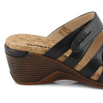 Women's CALGARY 01 black wedge sandals