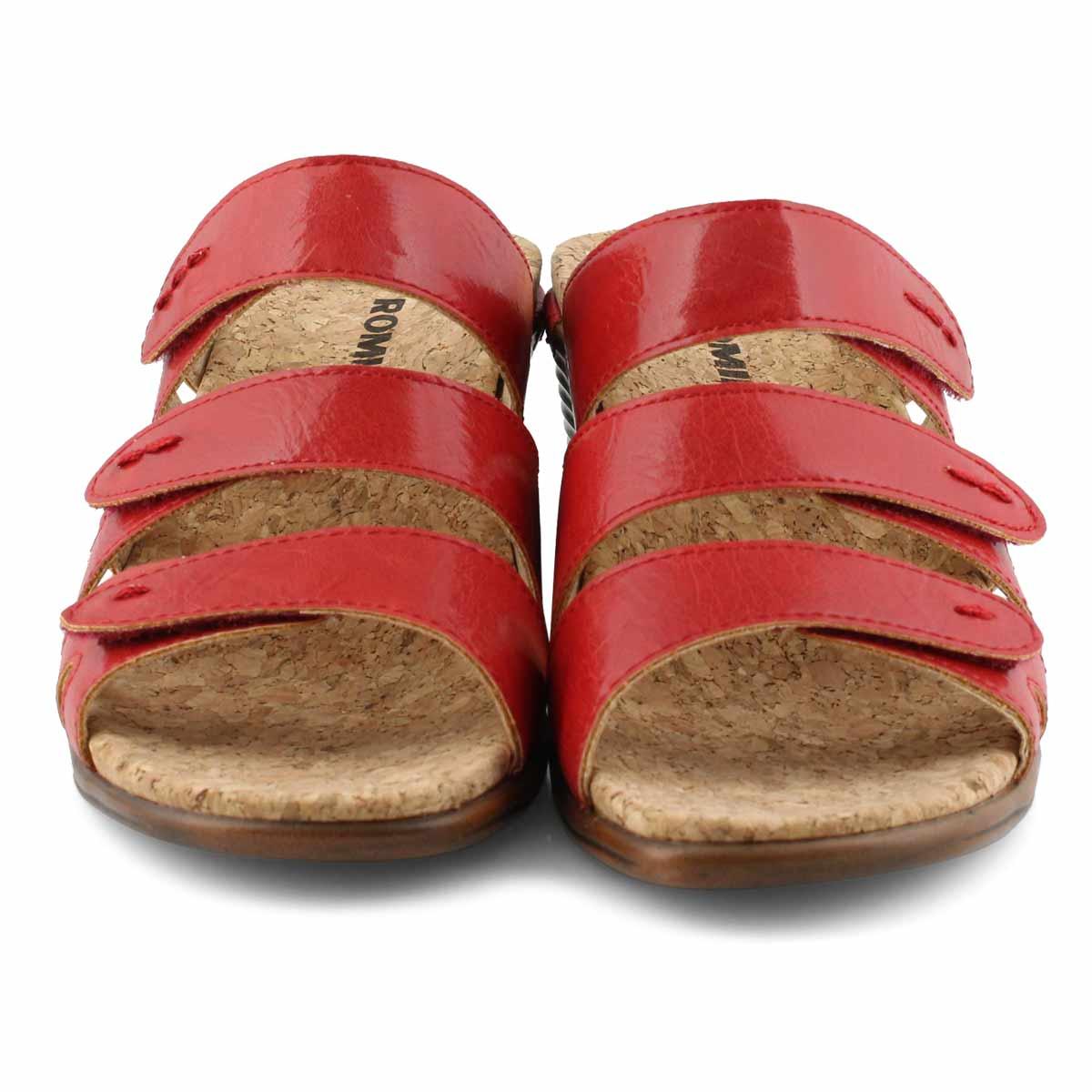 Sandale, Calgary 01 rouge, femmes