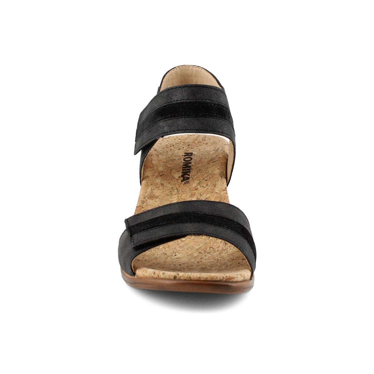 Sandales compensées CALGARY 03, noir, femmes