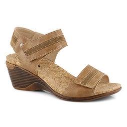 Lds Calgary 03 light tan wedge sandal