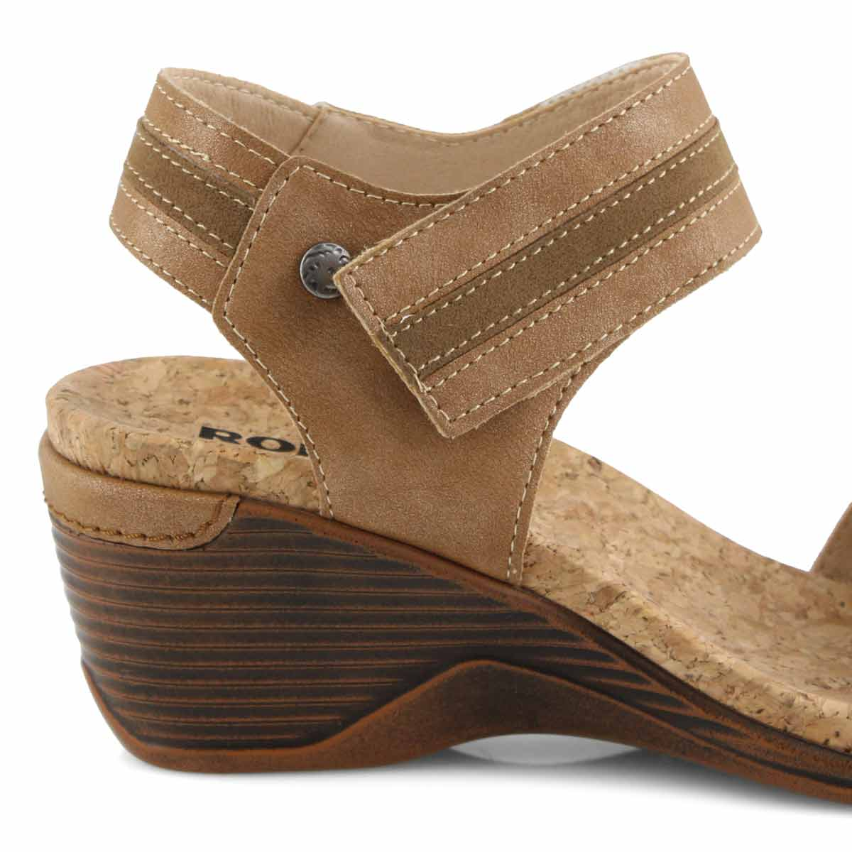 Sandales compensées CALGARY 03, havane, femmes