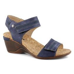 Lds Calgary 03 blue wedge sandal