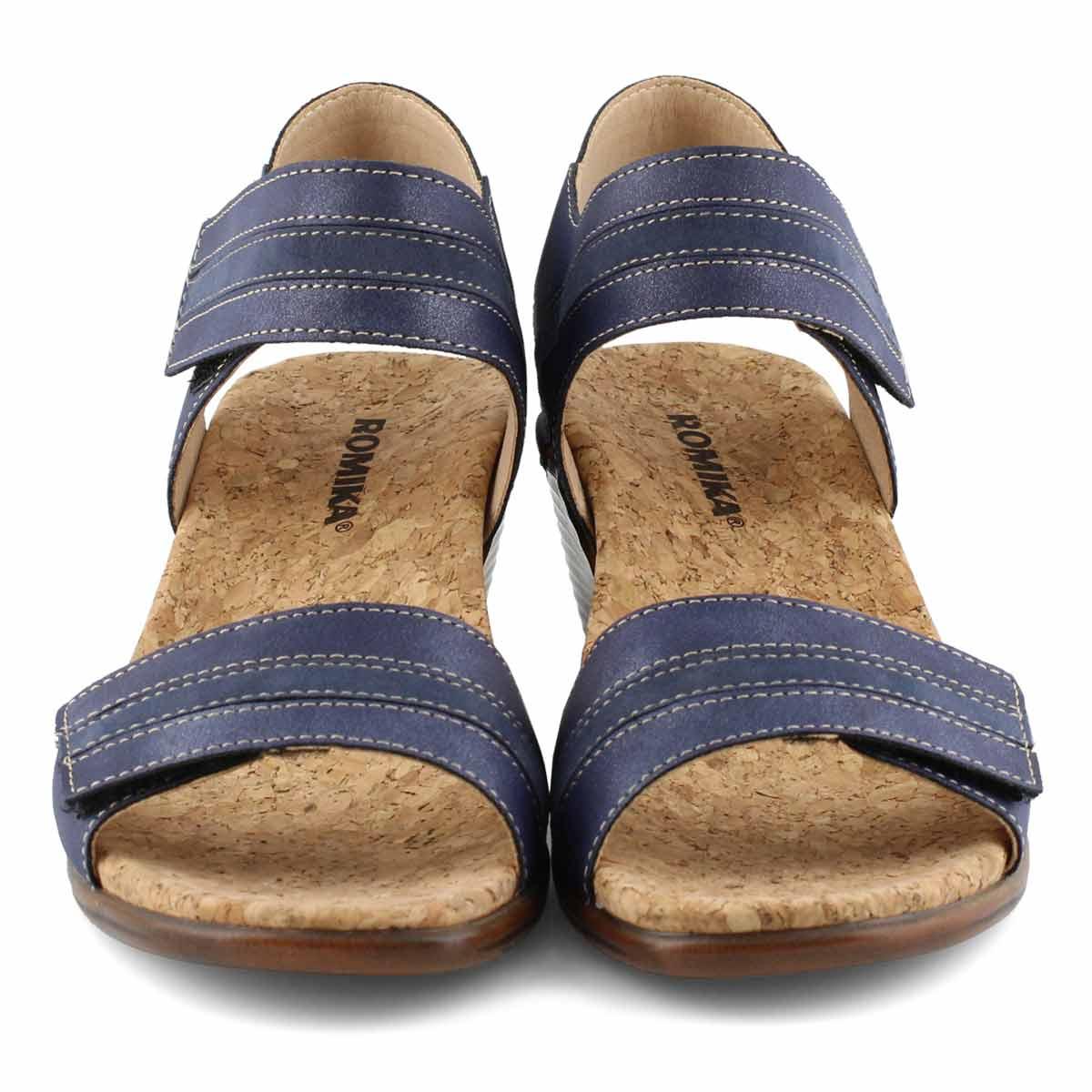 Sandales compensées CALGARY 03, bleu, femmes