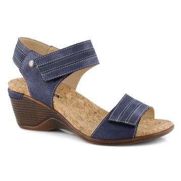 Women's CALGARY 03 blue wedge sandals