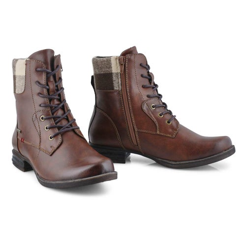 Lds Venus 36 brown combat boot