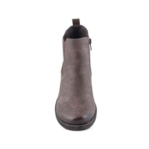 Lds Venus 37 dark brown chelsea boot