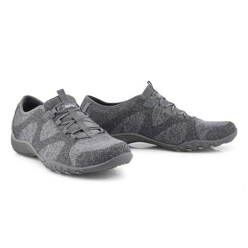 Lds Breathe-Easy charcoal slip on snkr