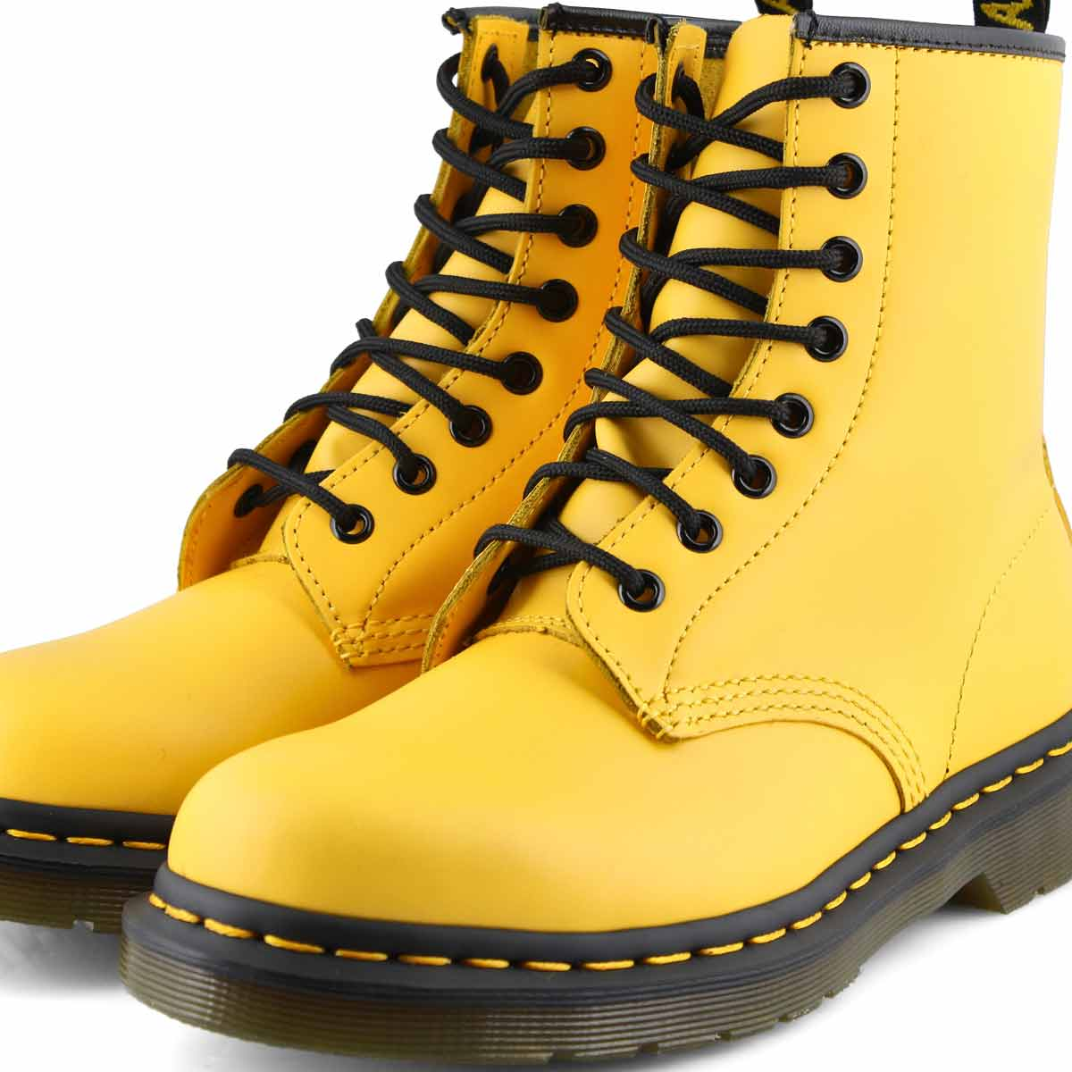 Women's 1460 8 Eye Yellow Smooth Boots