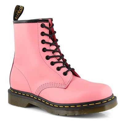Lds 1460 8 eye acid pink smooth boot