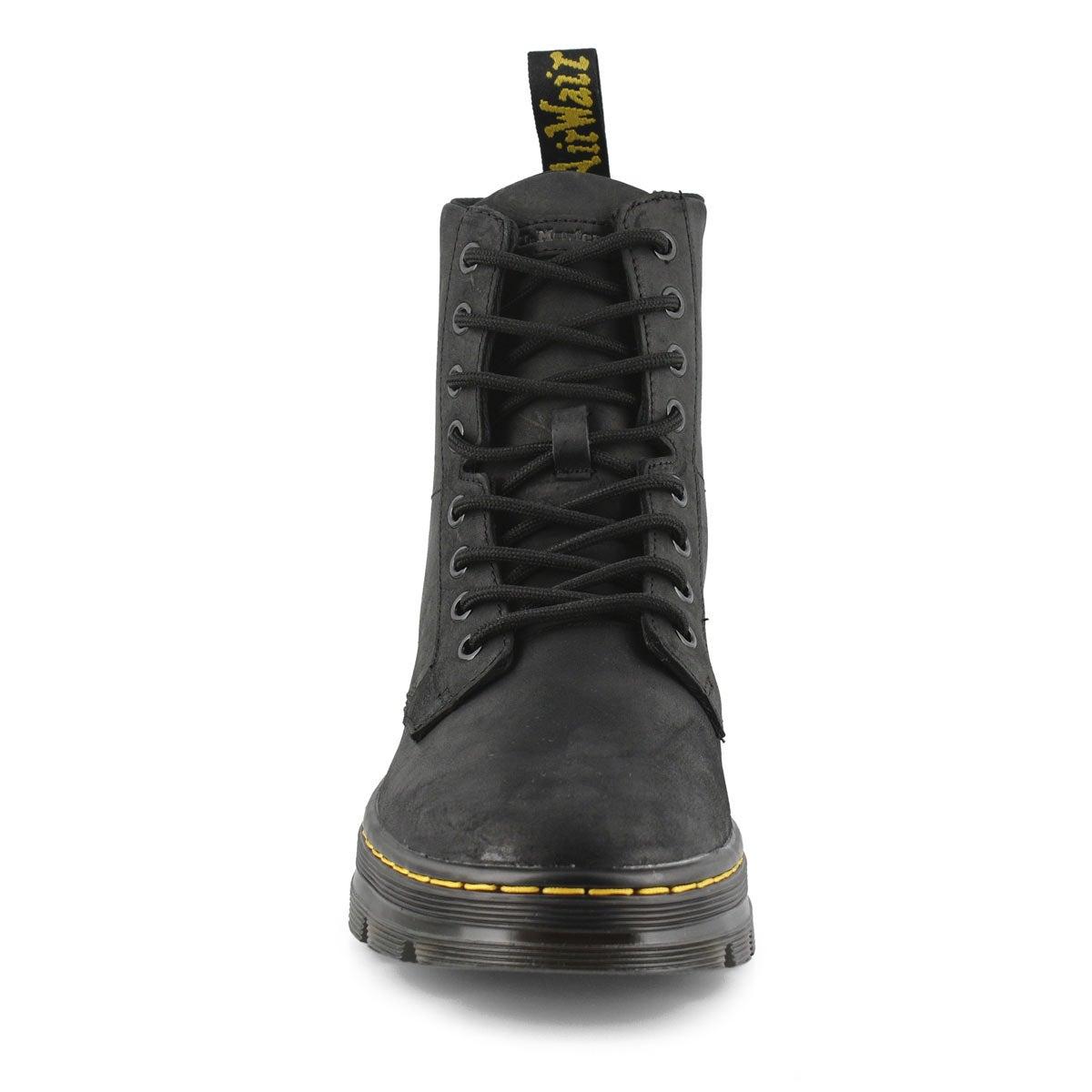 Bottes militaires lacées COMBS, noir, hommes