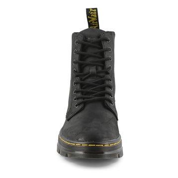 Men's Combs Lace Up Combat Boot - Black