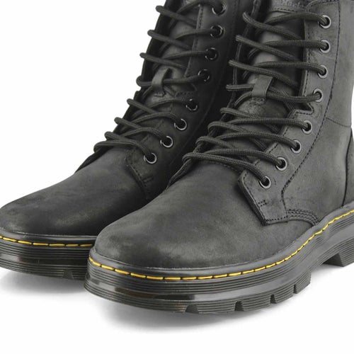 Mns Combs black lace up combat boot