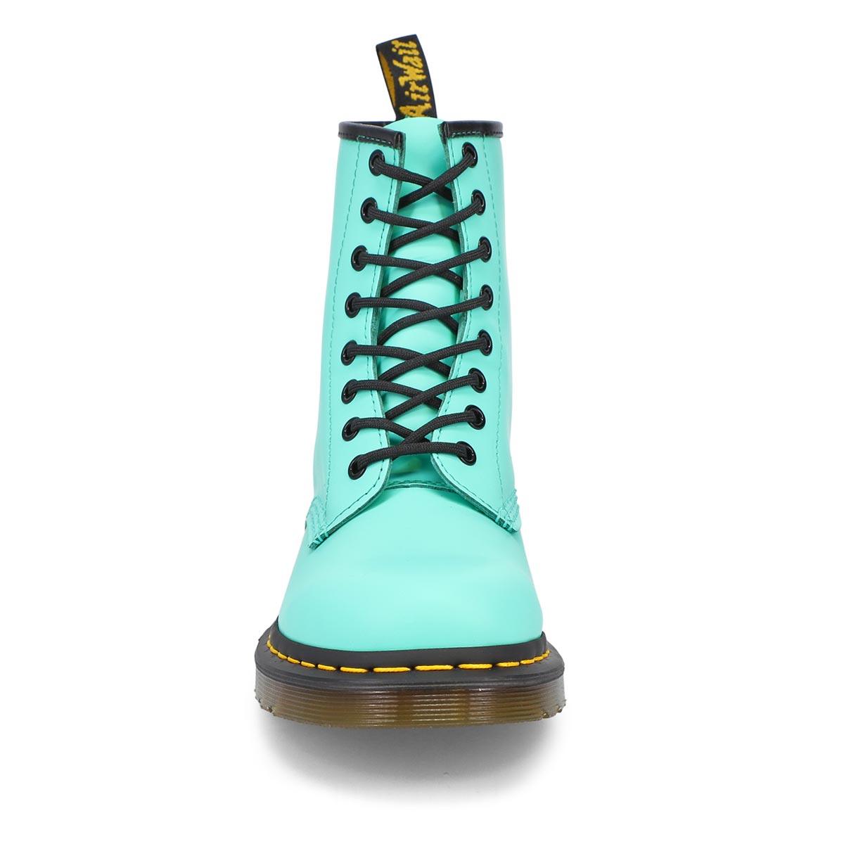Women's 1460 8-Eye leather boots - pepprmint green
