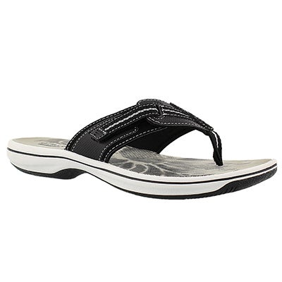 Clarks Women's BRINKLEY JAZZ black thong sandals