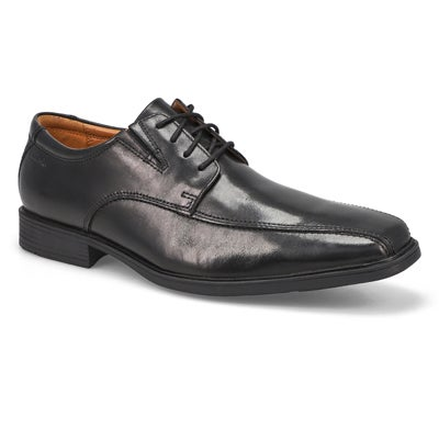 Clarks Men's TILDEN WALK black dress oxfords