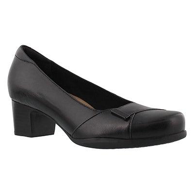 Lds Rosalyn Belle black dress heel-WIDE