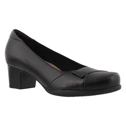 Lds Rosalyn Belle black dress heel-WIDE