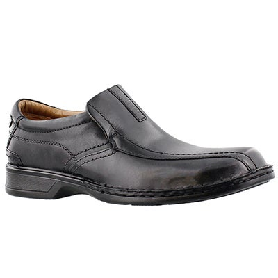 Clarks Men's ESCALADE STEP black slip on dress shoes