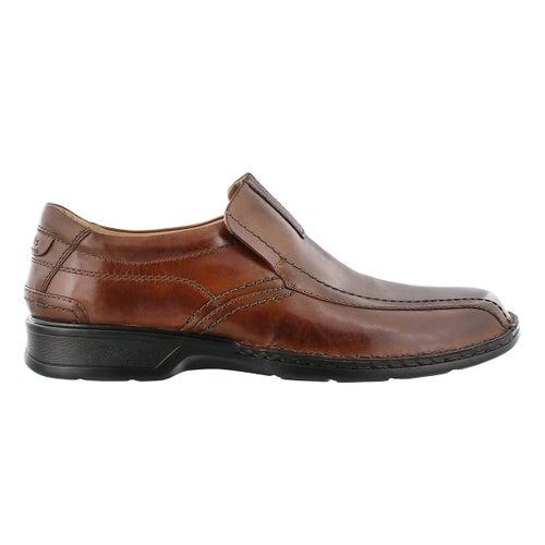 Mns Escalade Step brn slip on dress shoe