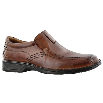 Clarks Men's ESCALADE STEP brown slip on dress shoes