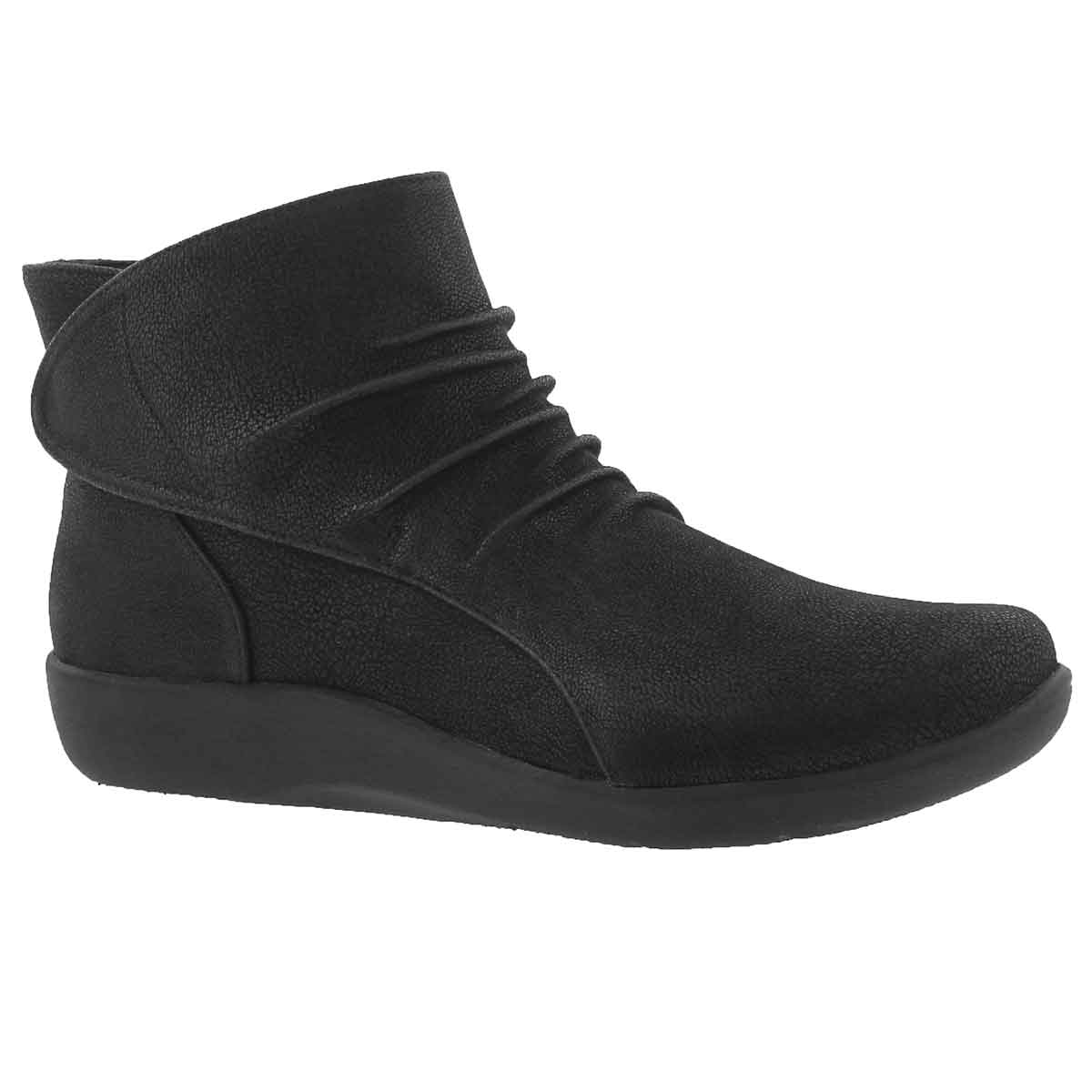 Women's SILLIAN SWAY black slip on boots