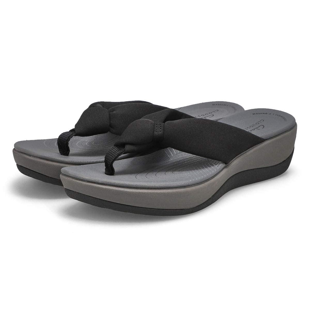 Sandale tong Arla Glison, noir, femme