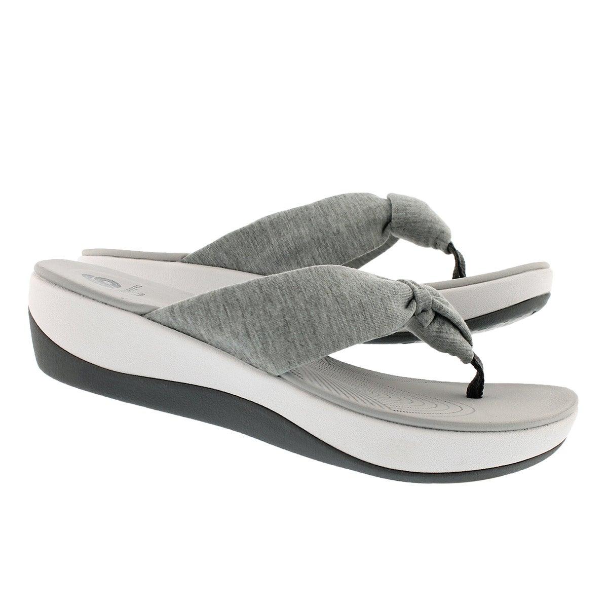 Women's Arla Glison Thong Wedge Sandal - Grey