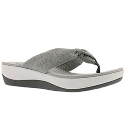Lds Arla Glison grey thong wedge sandal