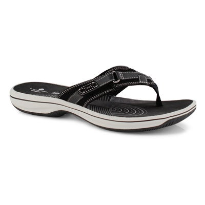 Women's BREEZE SEA black thong sandals