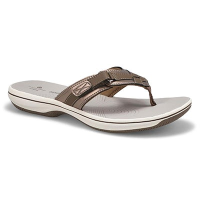 Sandale tong Breeze Sea, étain, fem