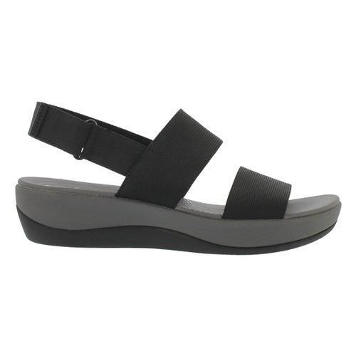 Lds Arla Jacory black wedge sandal