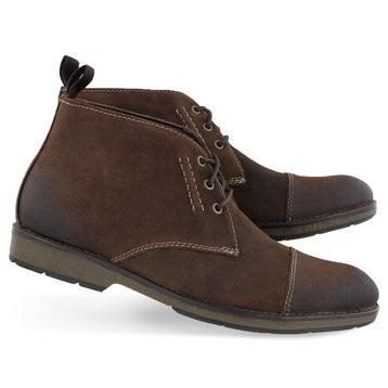 Men's HINMAN MID dark tan chukka boots