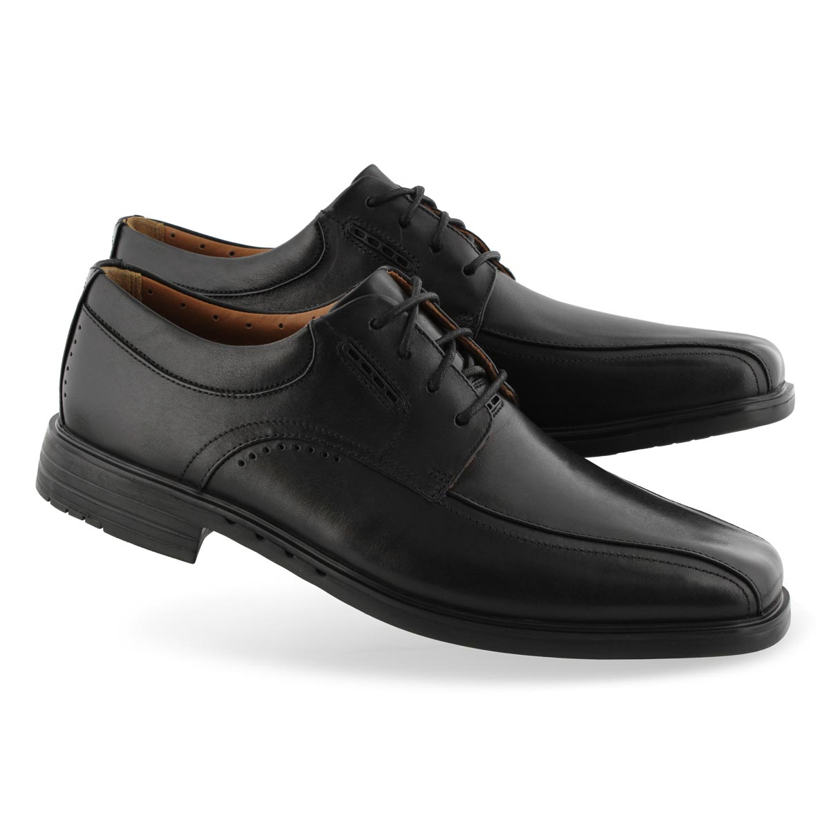 Men's UNKENNETH WAY black dress shoe - WIDE