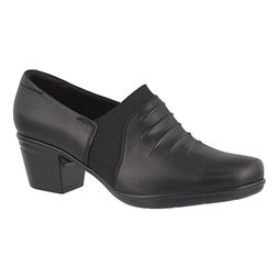 Lds Emslie Chara black dress heel- wide