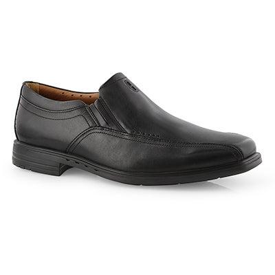 Mns UnSheridan Go black dress shoe-wide