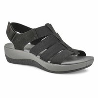 Women's Arla Shaylie Casual Wedge Sandal - Black