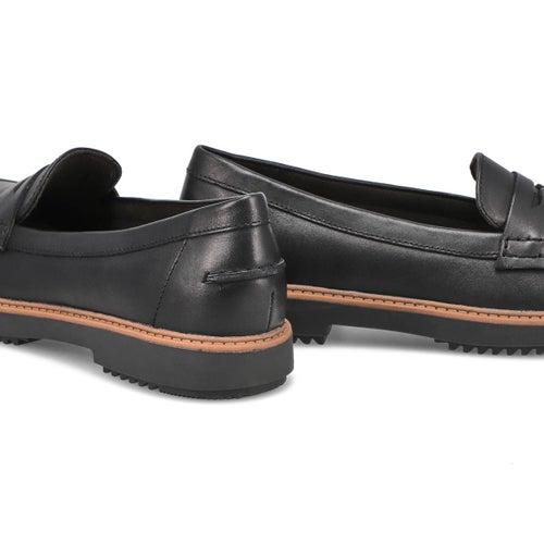 Lds Raisie Eletta blk lthr casual loafer